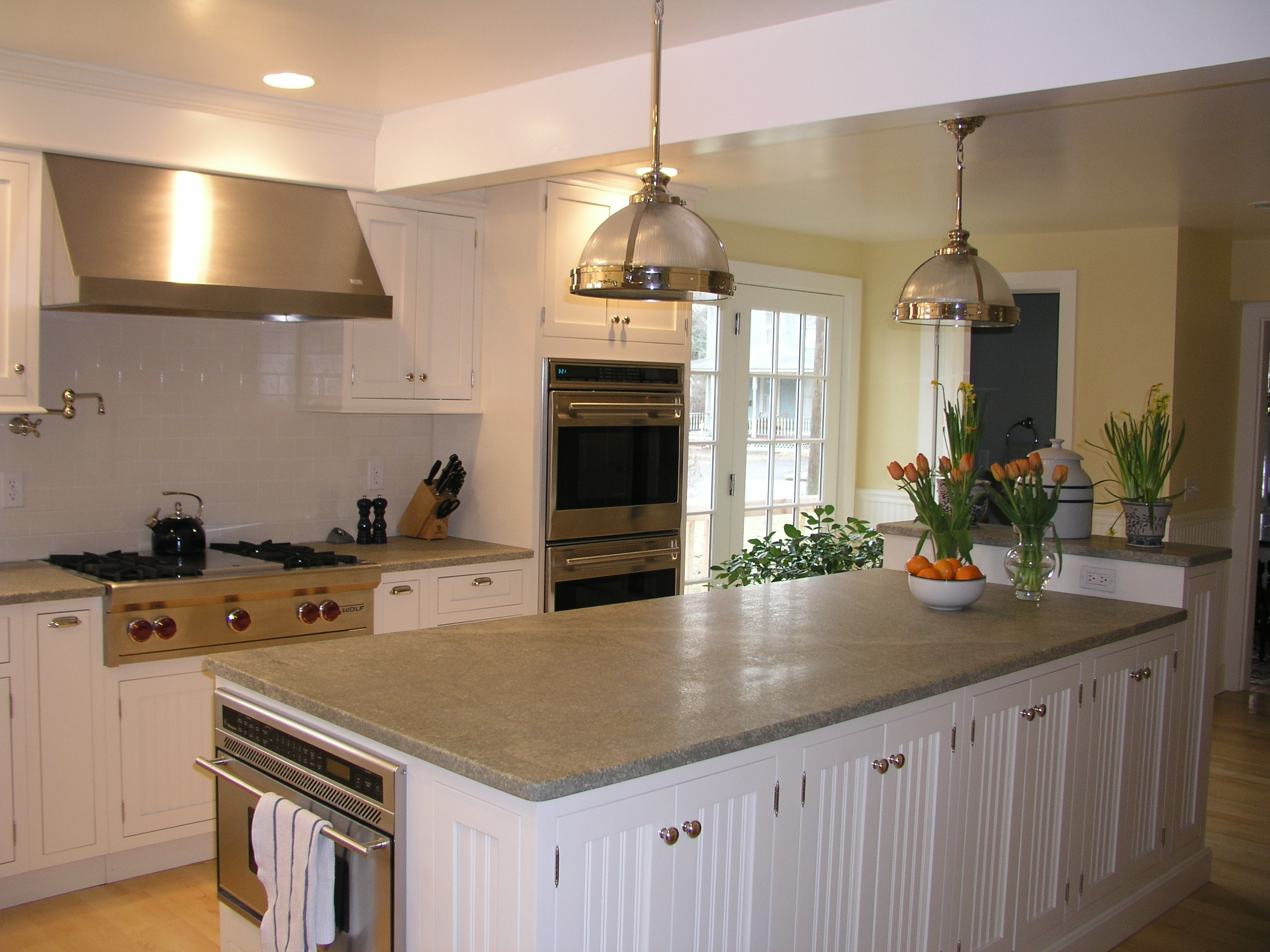 White Beadboard Paneled Inset Kitchen Kitchen Design Center