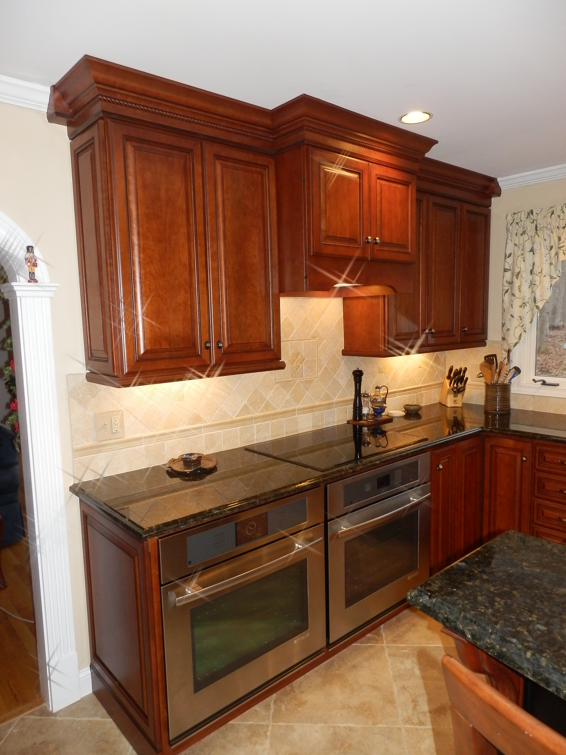 Traditional Look Of Raised Panel Cherry Cabinetry Kitchen Design Center